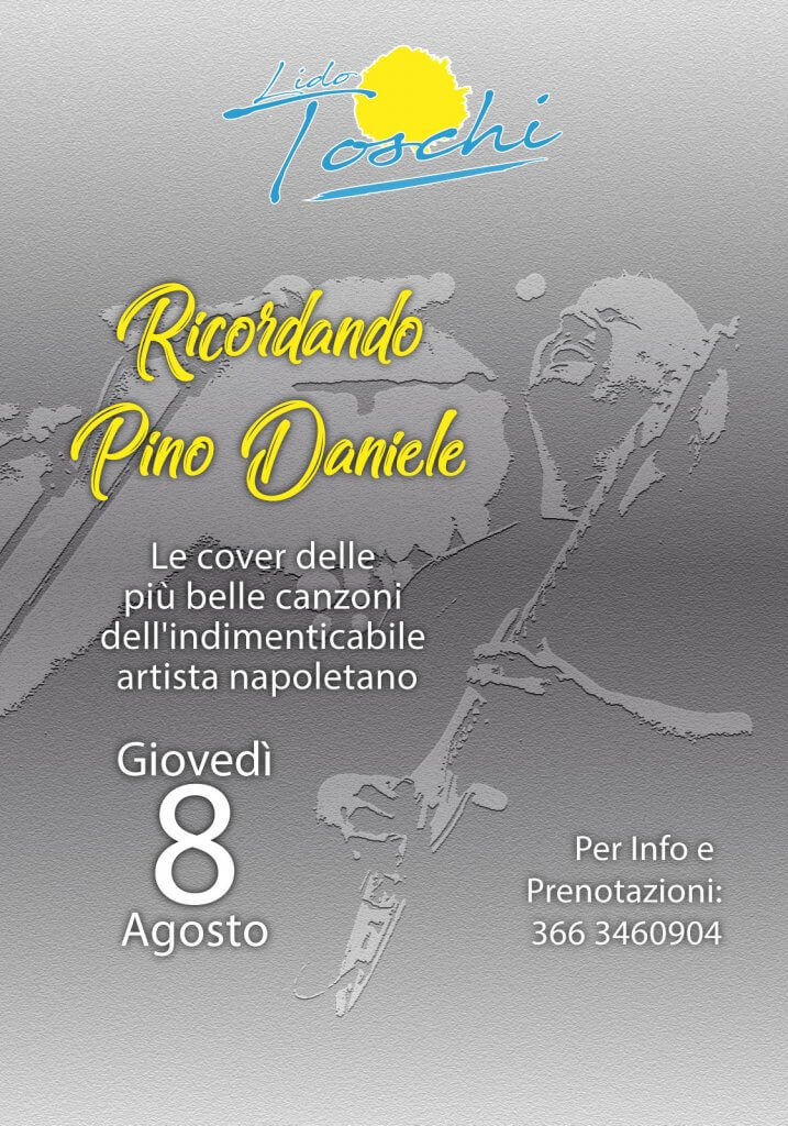 "Lido Toschi presents the ""Evening in memory of Pino Daniele"""